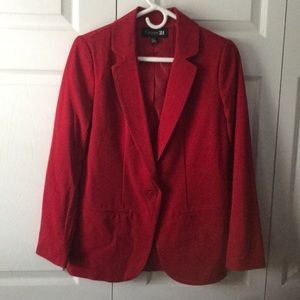 Forever21 Red blazer size S